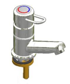 Einhebel-Standbatterie SaniKerami W-Ausladung 120mm