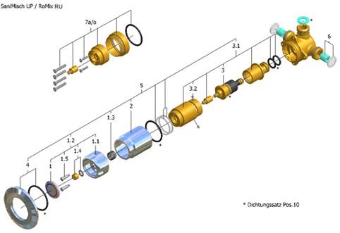 Rotter romix ru sanimisch up ersatzteile oder austauschsystem - Rotter armaturen ...