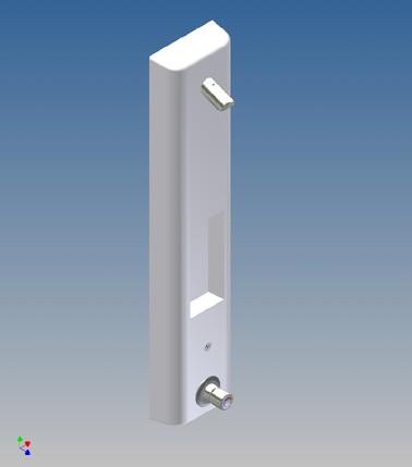 Einzelbrauseelement FLAIR 4 SIP mit Piezotaster/Thermostat - F2026M